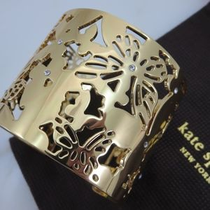 KATE SPADE - All a Flutter Butterfly Floral Cuff